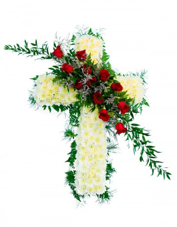 Funeral Cross Flower Arrangement