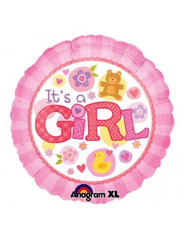 It's a Girl Foil Balloon