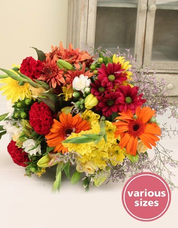 Mixed Bouquet of Seasonal Flowers