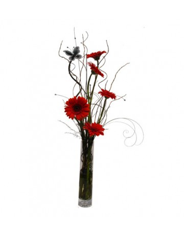 Red Gerberas in a Vase in Durban
