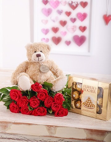 Red Roses, Teddy & Chocolates in Durban
