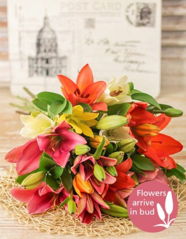 Flower Girl Baskets Durban : Mixed lily bouquet in durban south africa florist