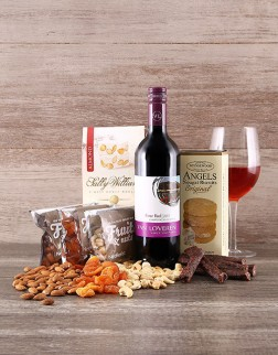 Nuts, Biltong & Wine Hamper