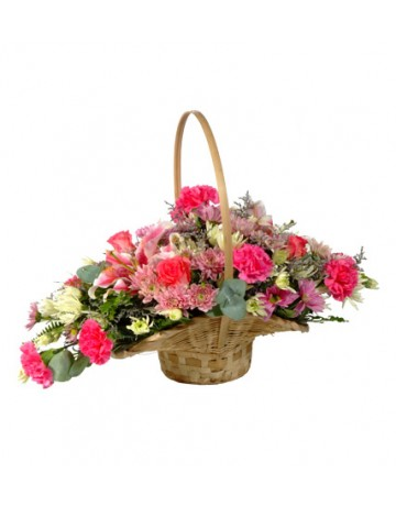 Scoop Basket of Flowers