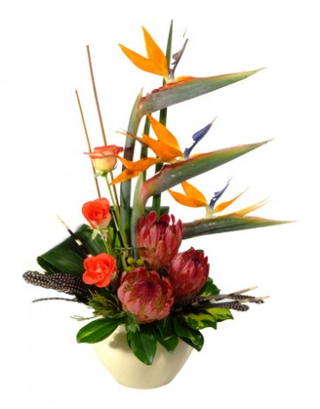 Ethnic African Flower Arrangement