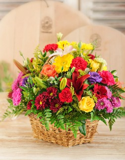 Basket of Country Flowers
