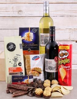 Gourmet Wine, Chocs & Biltong Hamper