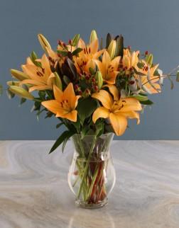 Orange Lilies in a Vase