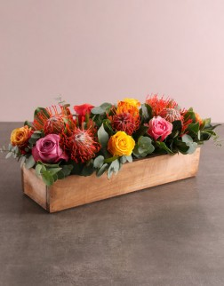 Protea & Rose Arrangement